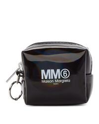 schwarze bedruckte Handtasche von MM6 MAISON MARGIELA
