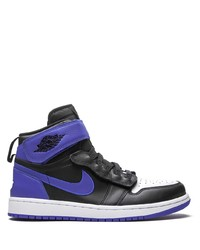 schwarze bedruckte hohe Sneakers aus Leder von Jordan