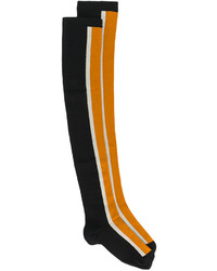 schwarze bedruckte hohen Socken von Marni