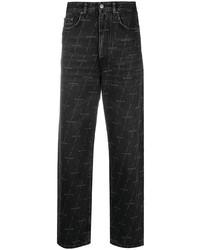 schwarze bedruckte Jeans von Balenciaga