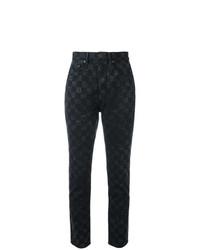 schwarze bedruckte Jeans von Marc Jacobs
