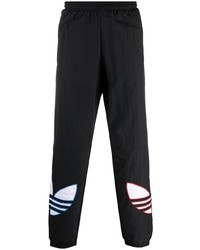 schwarze bedruckte Jogginghose von adidas