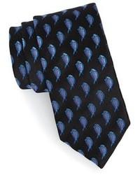 schwarze bedruckte Krawatte