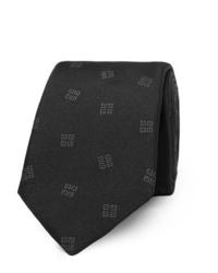 schwarze bedruckte Krawatte von Givenchy