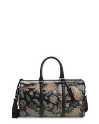 schwarze bedruckte Leder Reisetasche