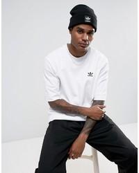 schwarze bedruckte Mütze von adidas