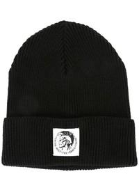 schwarze bedruckte Mütze von Diesel