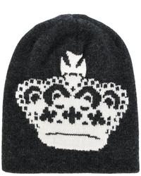 schwarze bedruckte Mütze von Dolce & Gabbana