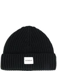 schwarze bedruckte Mütze von Dondup