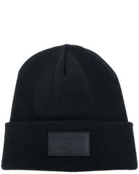 schwarze bedruckte Mütze von DSQUARED2