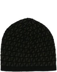 schwarze bedruckte Mütze von Fendi