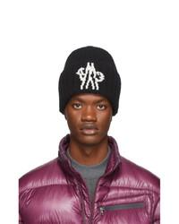 schwarze bedruckte Mütze von Moncler Genius