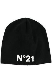 schwarze bedruckte Mütze von No.21