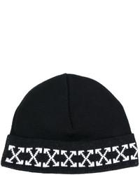 schwarze bedruckte Mütze von Off-White