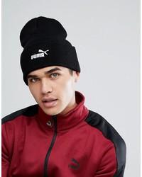 schwarze bedruckte Mütze von Puma
