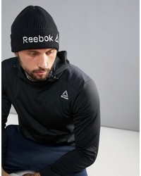 schwarze bedruckte Mütze von Reebok