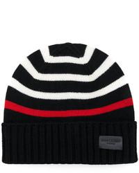 schwarze bedruckte Mütze von Saint Laurent