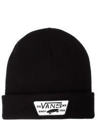 schwarze bedruckte Mütze von Vans