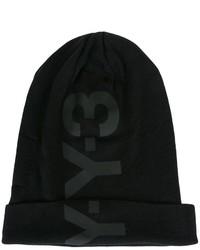 schwarze bedruckte Mütze von Y-3