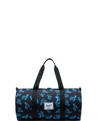 schwarze bedruckte Segeltuch Reisetasche von Herschel