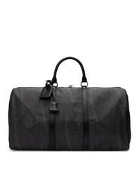 schwarze bedruckte Segeltuch Sporttasche von Etro