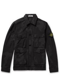 schwarze bedruckte Shirtjacke