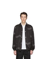 schwarze bedruckte Shirtjacke von Givenchy