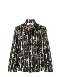 schwarze bedruckte Shirtjacke von Kenzo