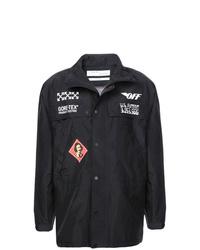 schwarze bedruckte Shirtjacke von Off-White