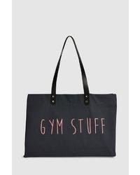 schwarze bedruckte Shopper Tasche aus Leder von NEXT