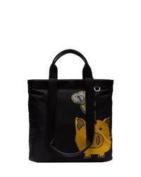 schwarze bedruckte Shopper Tasche aus Segeltuch von Dolce & Gabbana