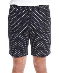 schwarze bedruckte Shorts