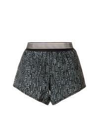 schwarze bedruckte Shorts von DKNY