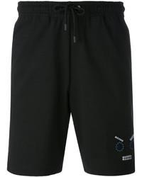 schwarze bedruckte Shorts von Fendi