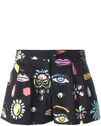 schwarze bedruckte Shorts von Moschino