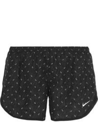 schwarze bedruckte Shorts von Nike