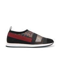 schwarze bedruckte Slip-On Sneakers von Fendi