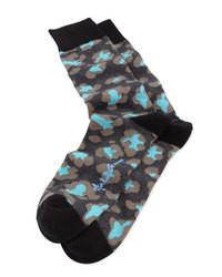 schwarze bedruckte Socken