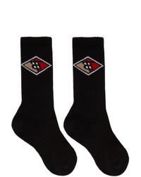 schwarze bedruckte Socken von Burberry