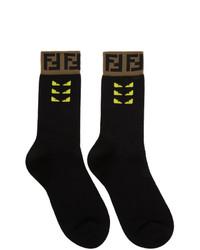 schwarze bedruckte Socken von Fendi