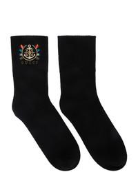 schwarze bedruckte Socken von Gucci