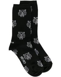 schwarze bedruckte Socken von Kenzo