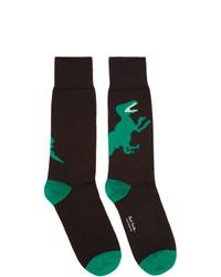 schwarze bedruckte Socken von Ps By Paul Smith