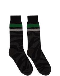 schwarze bedruckte Socken von Sacai