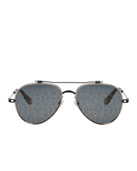 schwarze bedruckte Sonnenbrille von Givenchy
