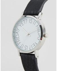 schwarze bedruckte Uhr von Asos