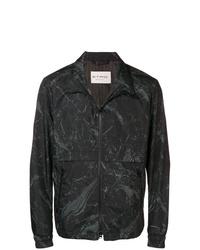 schwarze bedruckte Windjacke von Etro
