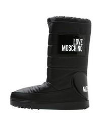 schwarze bedruckte Winterschuhe von Moschino