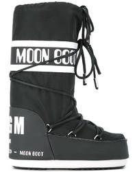 schwarze bedruckte Winterschuhe von MSGM