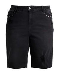 schwarze Bermuda-Shorts aus Jeans von New Look